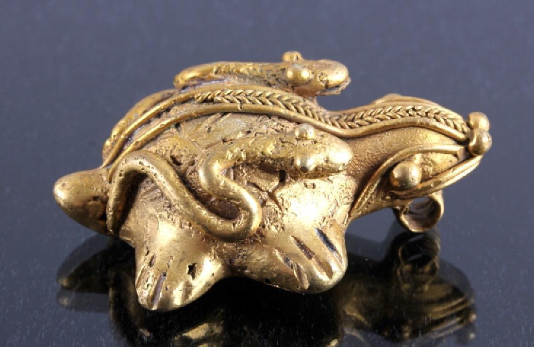Tairona Gold Effigy Pendant 200-1600 CE - 5