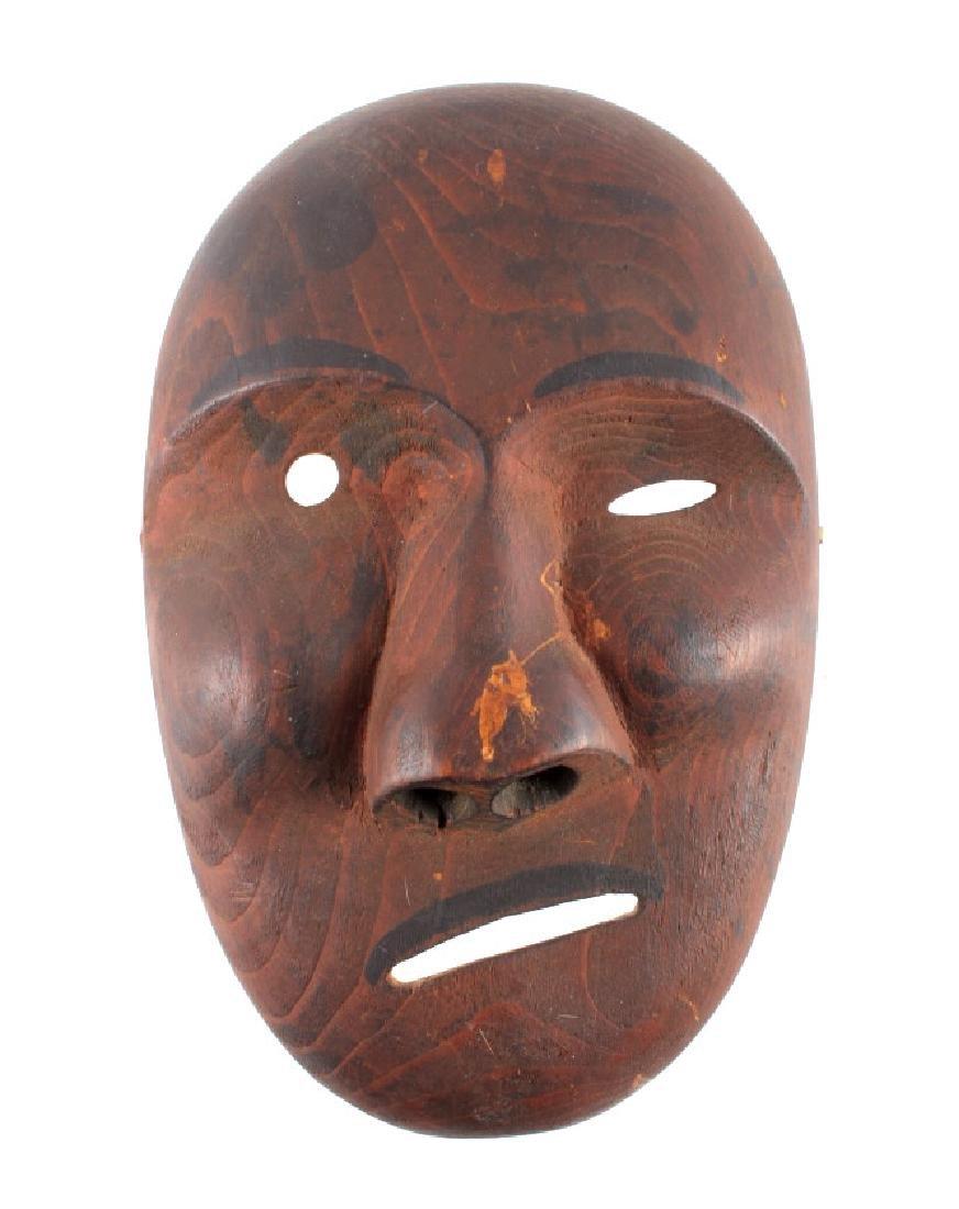 Kings Island Eskimo Carved Wooden Mask c.1890-1900