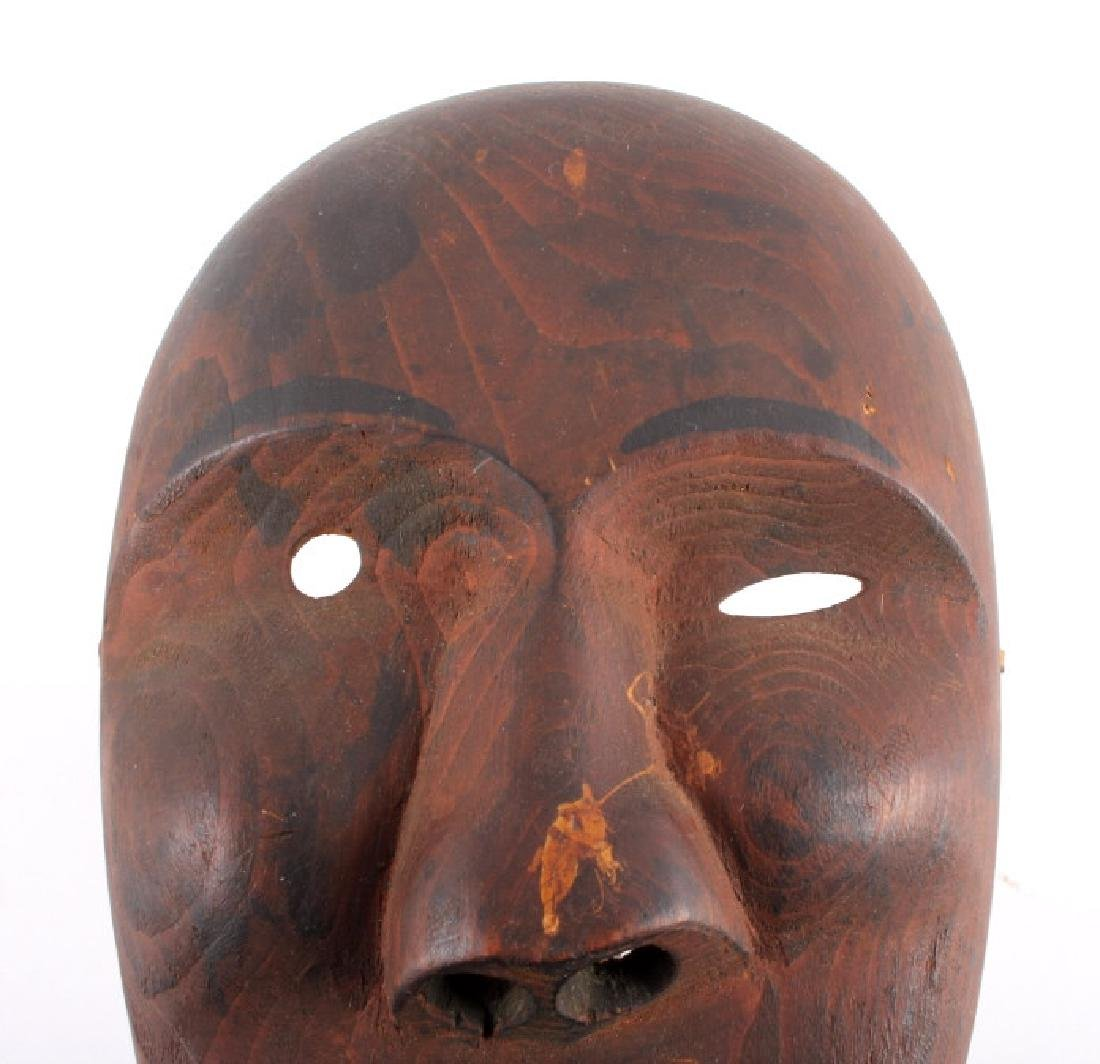 Kings Island Eskimo Carved Wooden Mask c.1890-1900 - 2