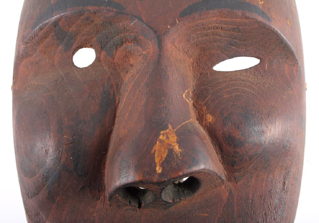 Kings Island Eskimo Carved Wooden Mask c.1890-1900 - 3