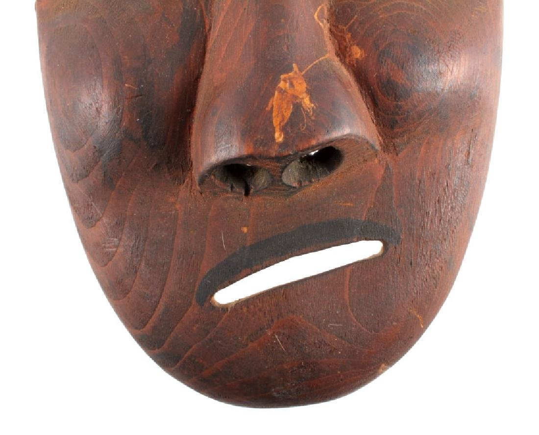Kings Island Eskimo Carved Wooden Mask c.1890-1900 - 4