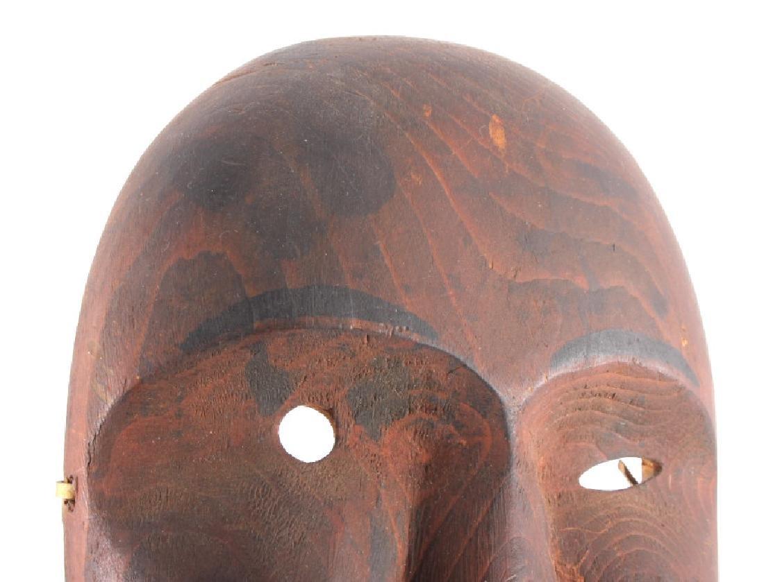 Kings Island Eskimo Carved Wooden Mask c.1890-1900 - 6