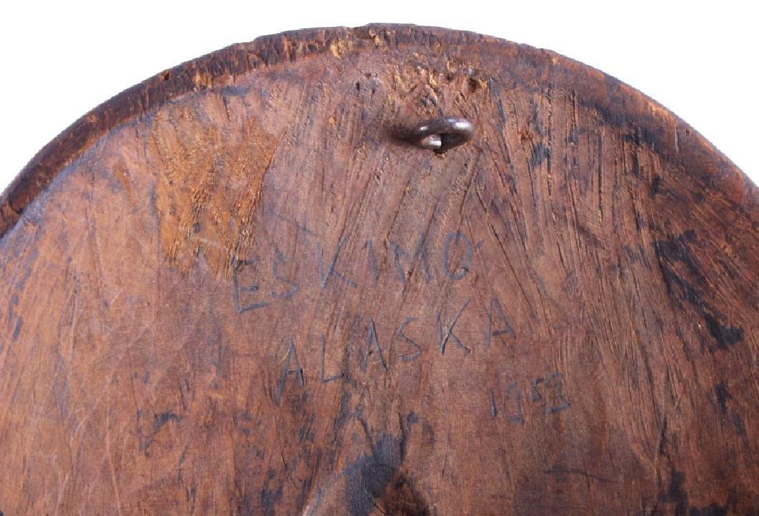 Kings Island Eskimo Carved Wooden Mask c.1890-1900 - 8