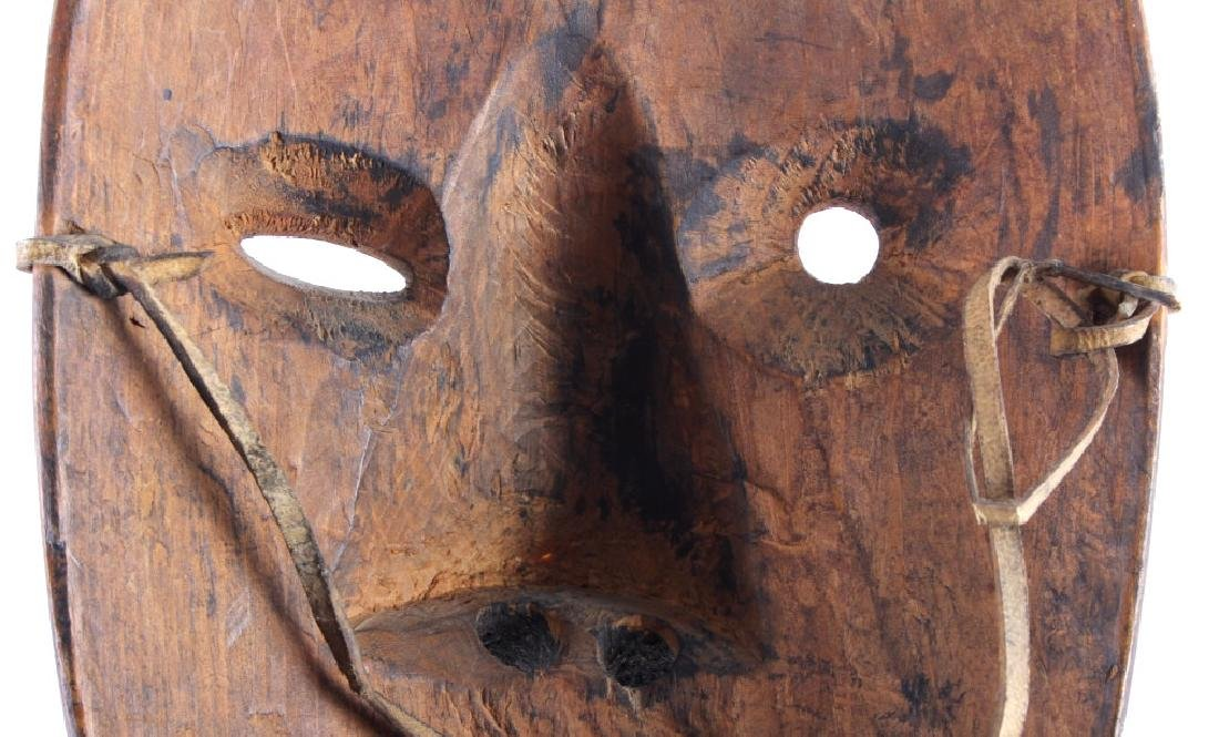 Kings Island Eskimo Carved Wooden Mask c.1890-1900 - 9