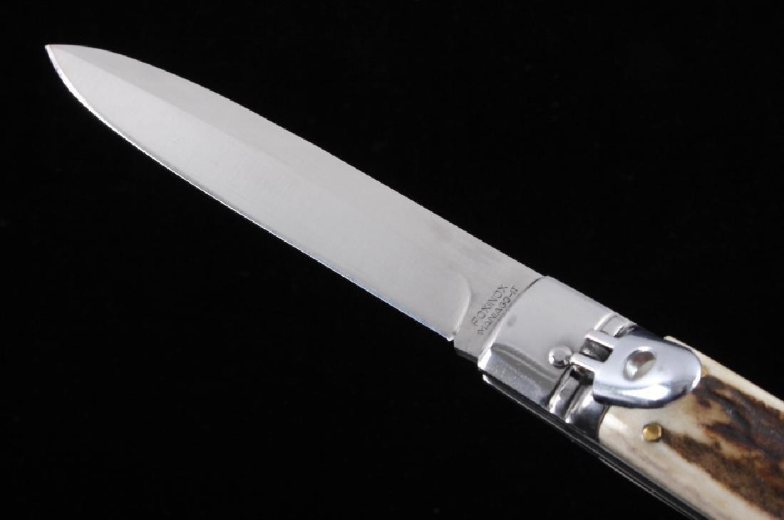 Foxinox Italian Stiletto Switchblade Knife Stag - 3
