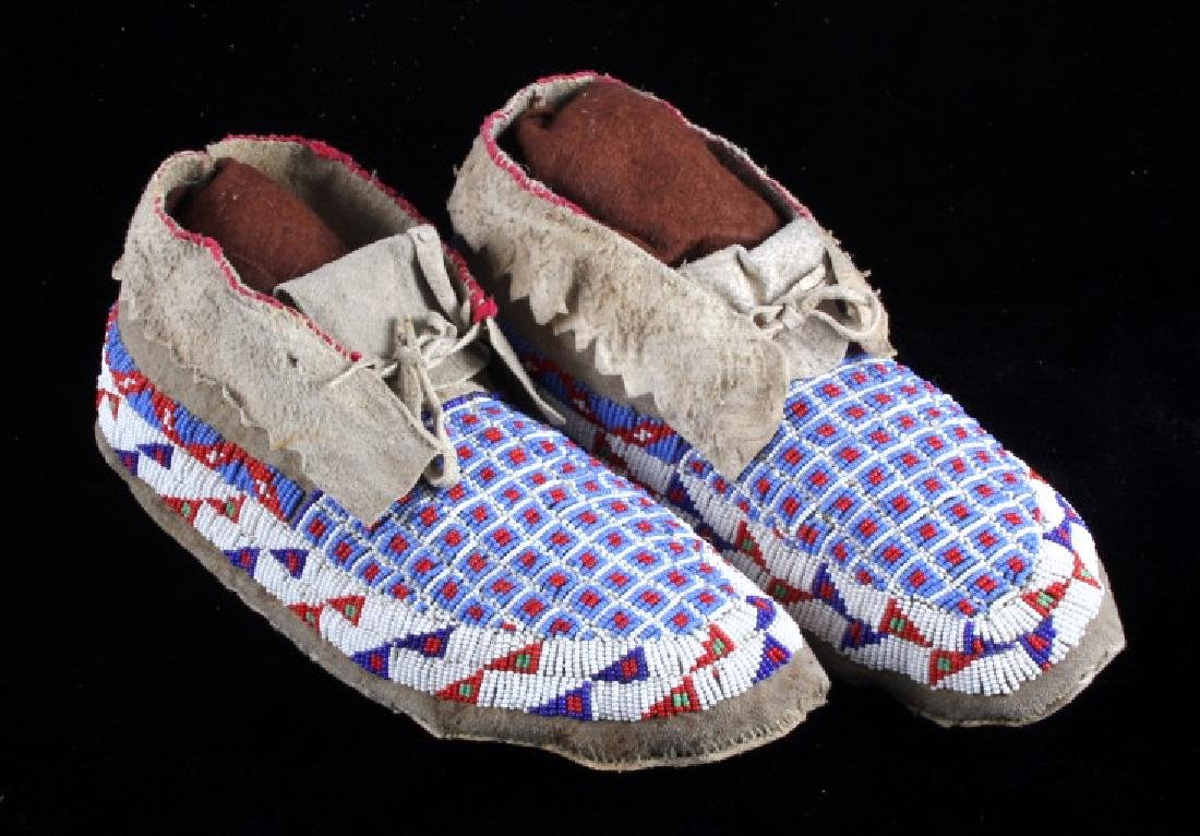 Sioux Native American Beaded Moccasins - 2