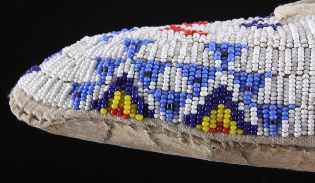 Sioux Native American Beaded Moccasins - 10
