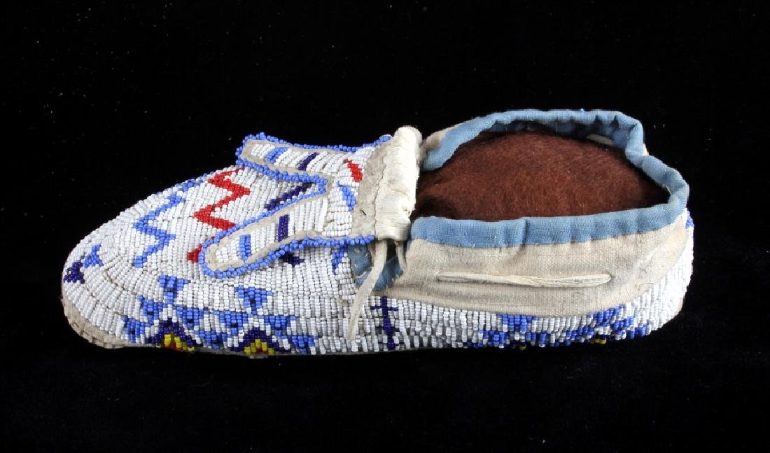 Sioux Native American Beaded Moccasins - 5