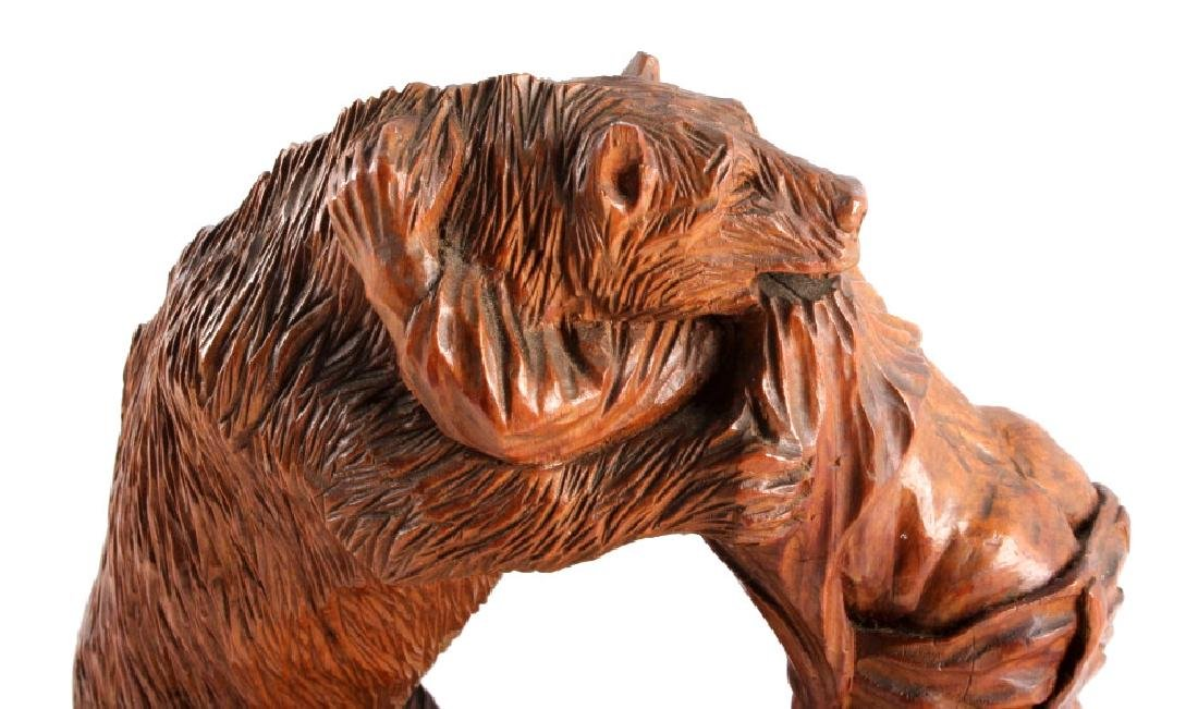Signed Black Forest Bear Carving - 10