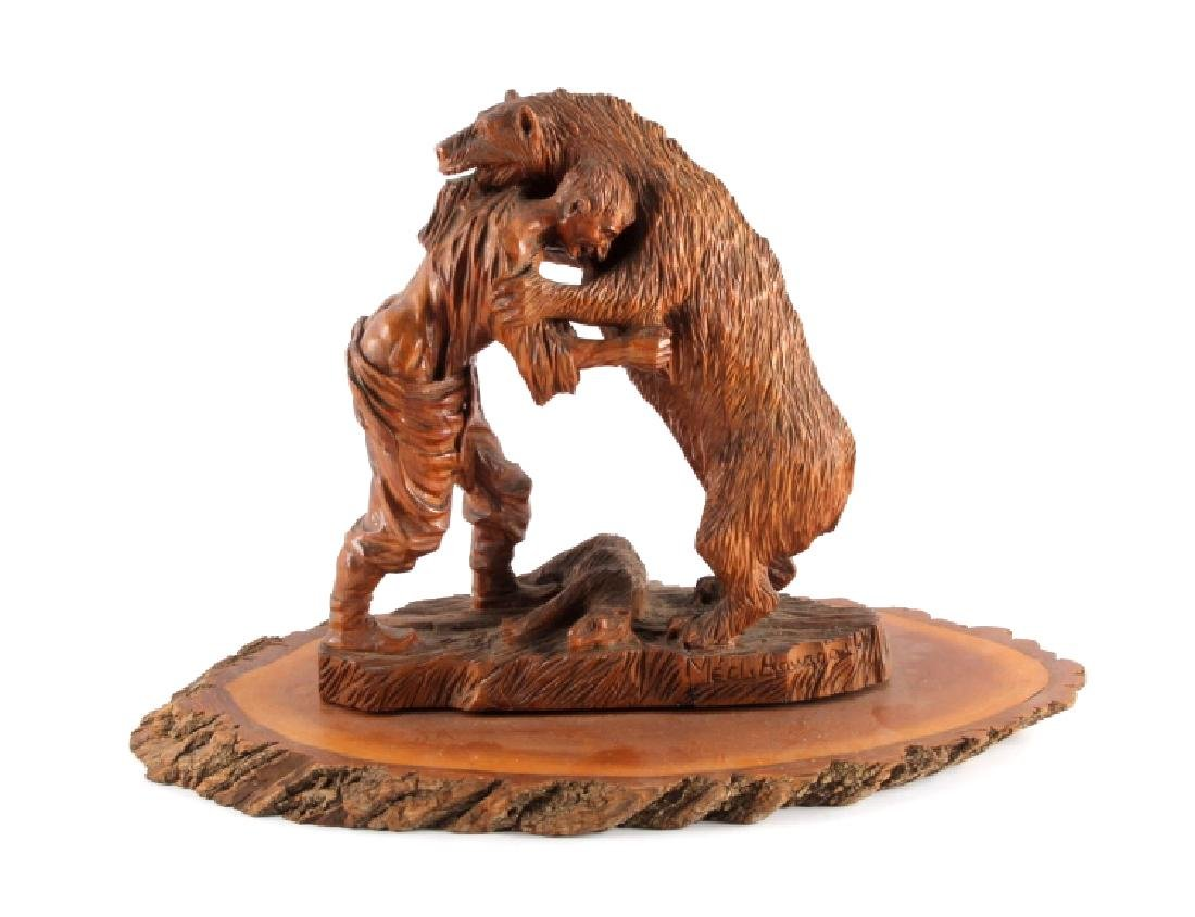 Signed Black Forest Bear Carving