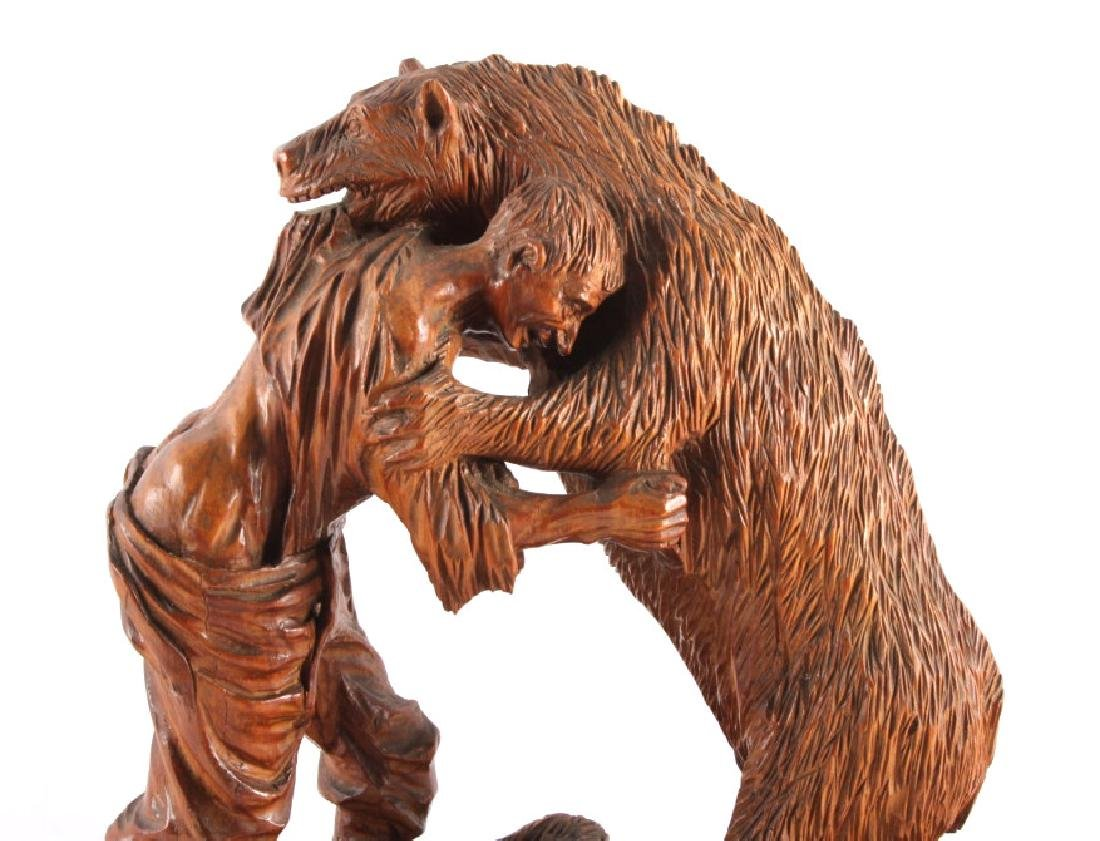 Signed Black Forest Bear Carving - 2
