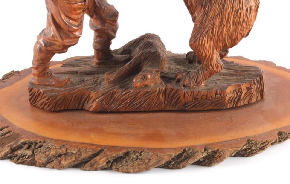 Signed Black Forest Bear Carving - 3