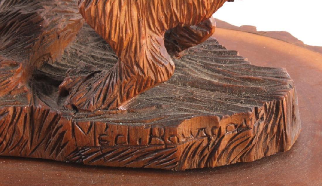 Signed Black Forest Bear Carving - 4