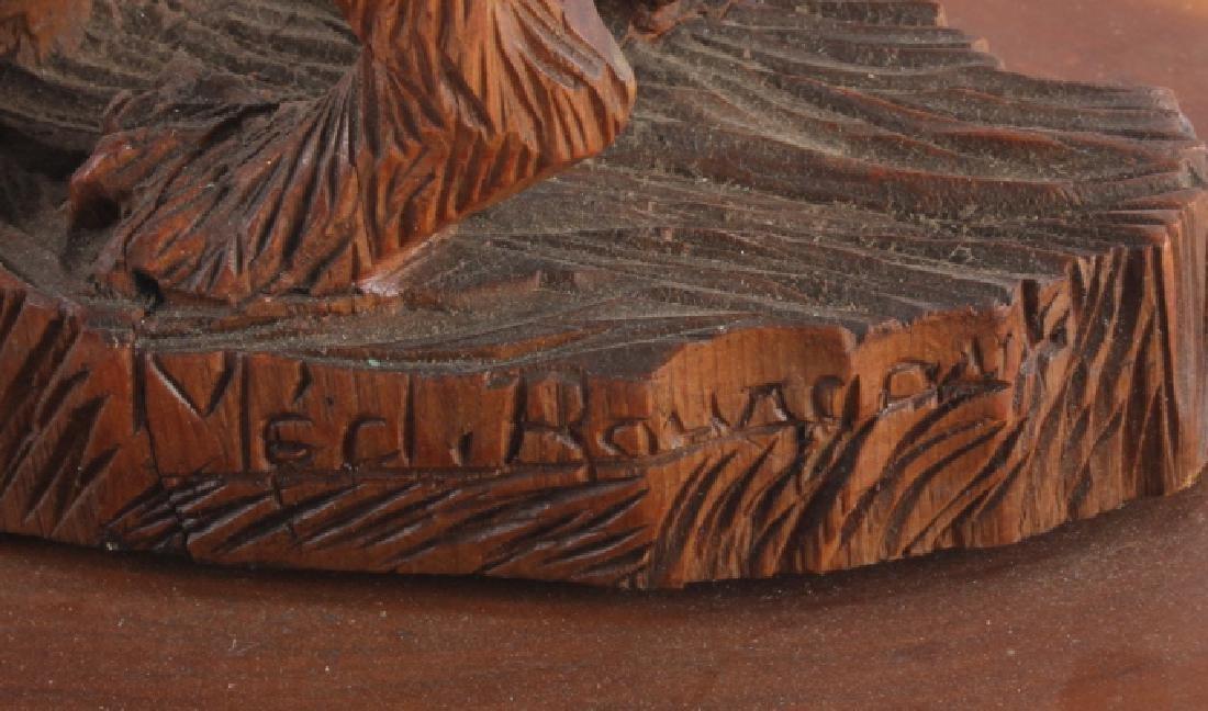 Signed Black Forest Bear Carving - 5