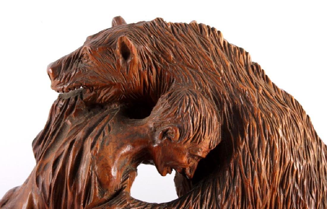 Signed Black Forest Bear Carving - 6