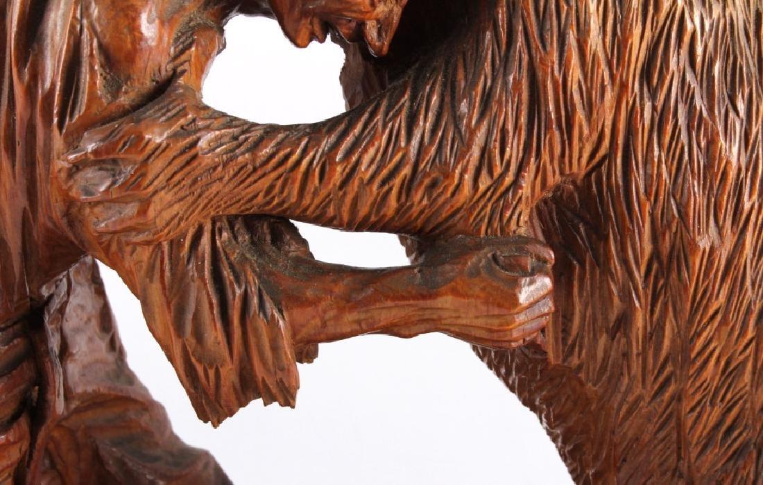 Signed Black Forest Bear Carving - 7
