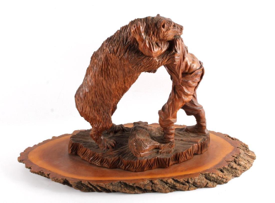 Signed Black Forest Bear Carving - 9