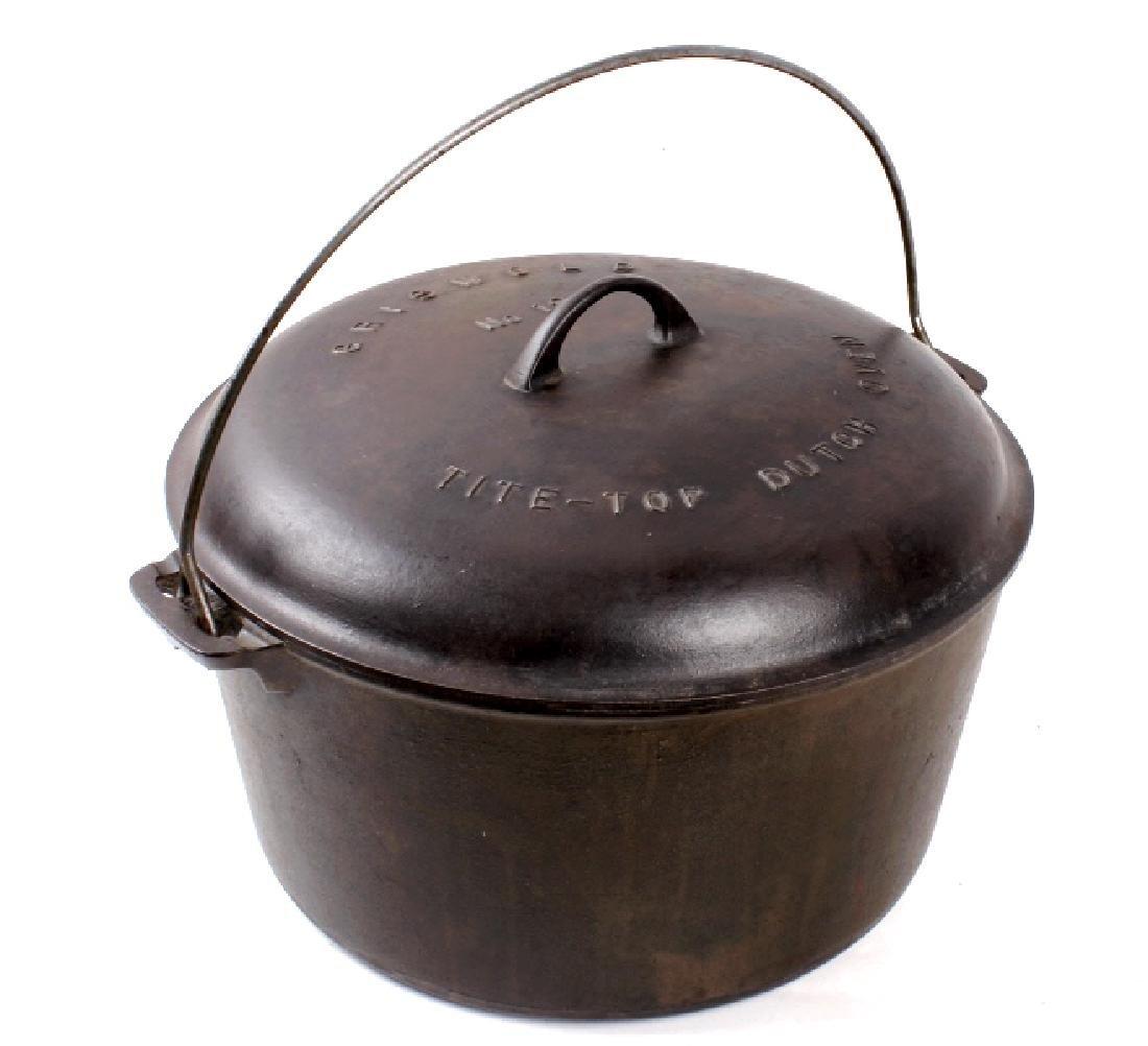 Griswold Cast Iron No. 12 Tite-Top Dutch Oven