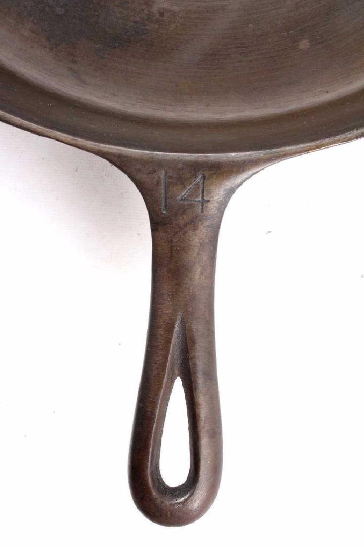 Griswold No. 14 Large Block Cast Iron Skillet - 3
