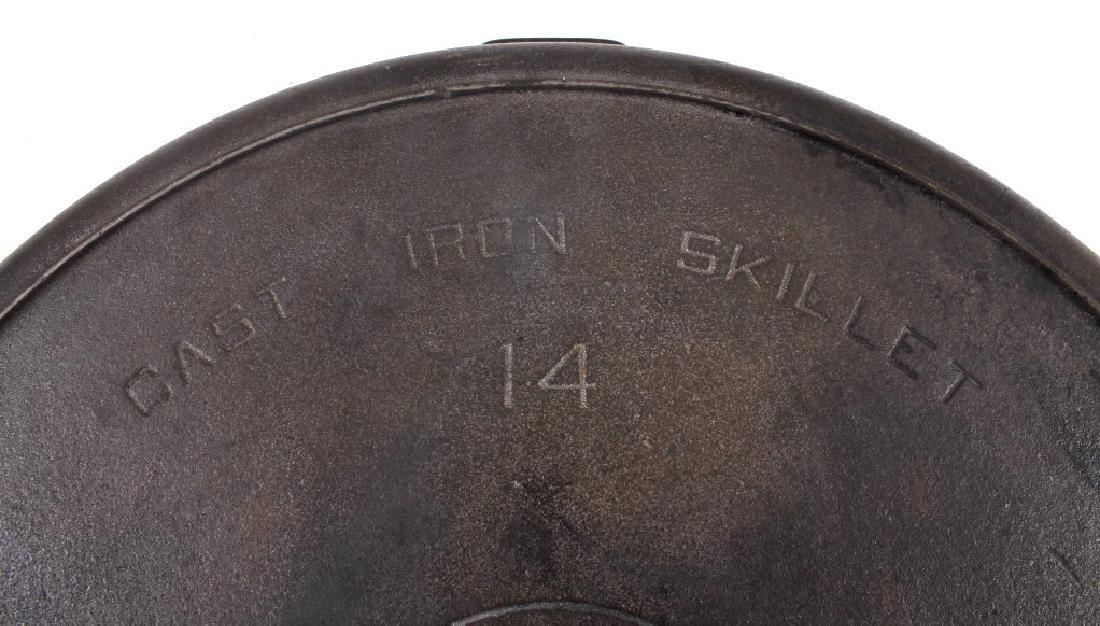 Griswold No. 14 Large Block Cast Iron Skillet - 6