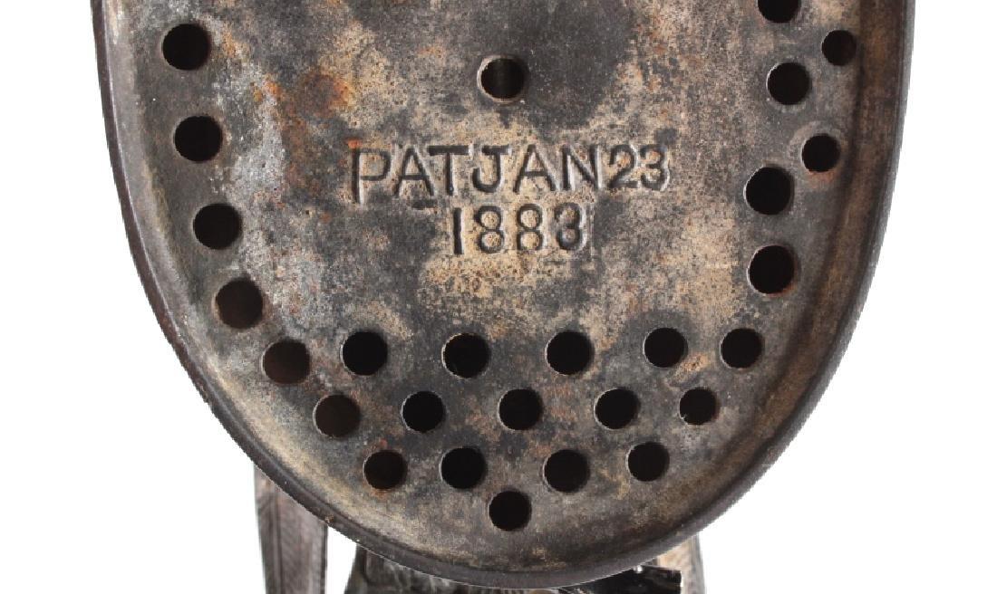 Antique J & E Stevens Cast Iron Eagle Coin Bank - 8