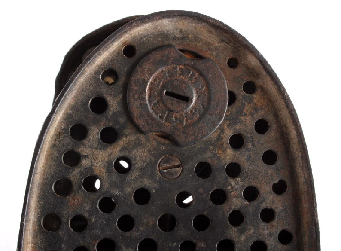 Antique J & E Stevens Cast Iron Eagle Coin Bank - 9