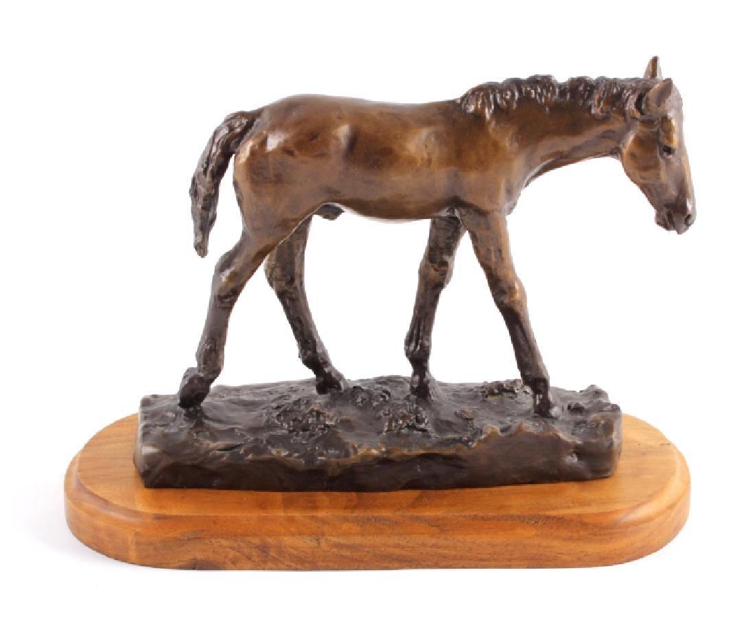 Original Bob Scriver Colt Bronze Sculpture