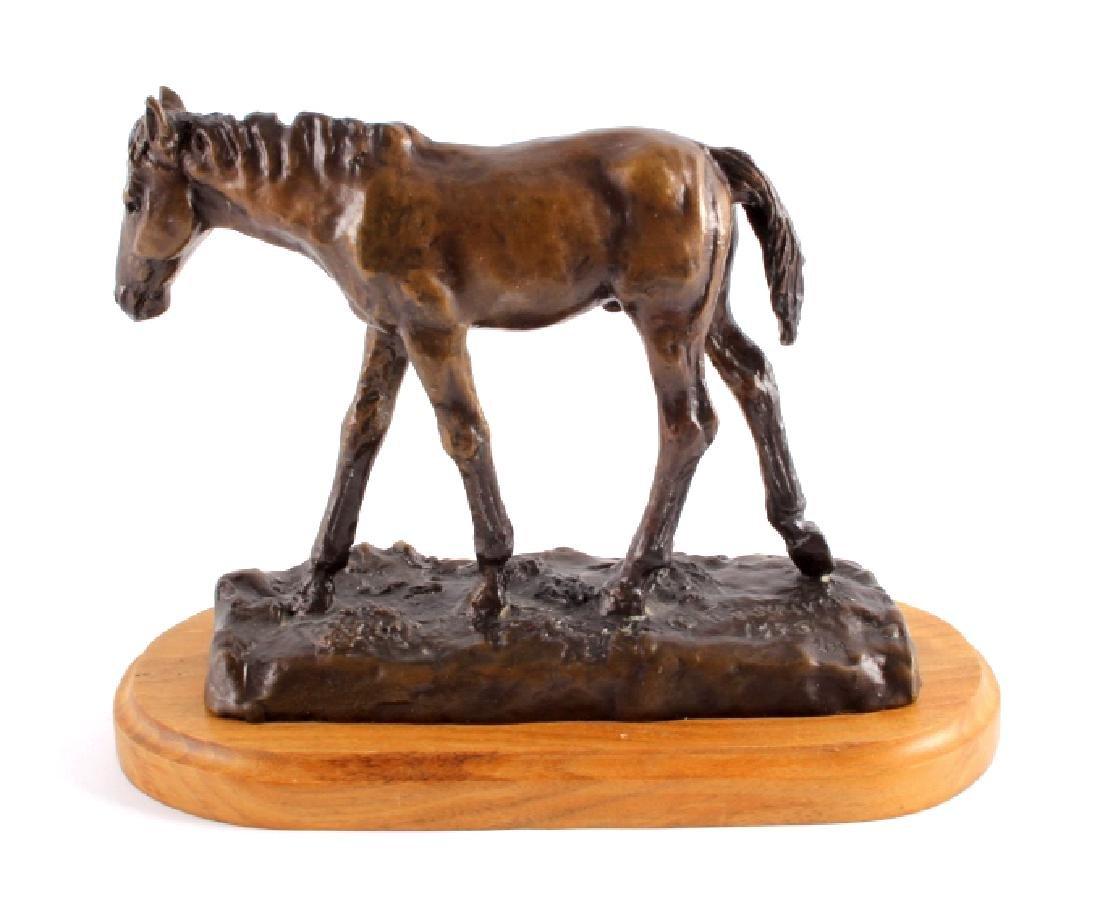 Original Bob Scriver Colt Bronze Sculpture - 2