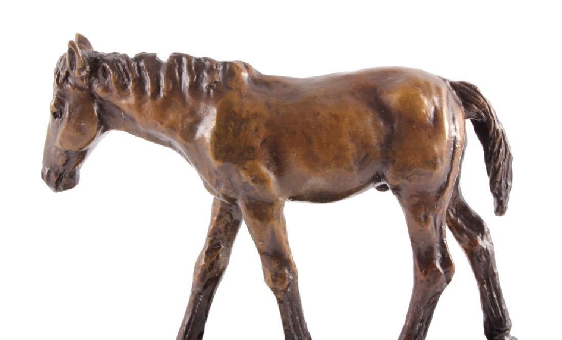 Original Bob Scriver Colt Bronze Sculpture - 3