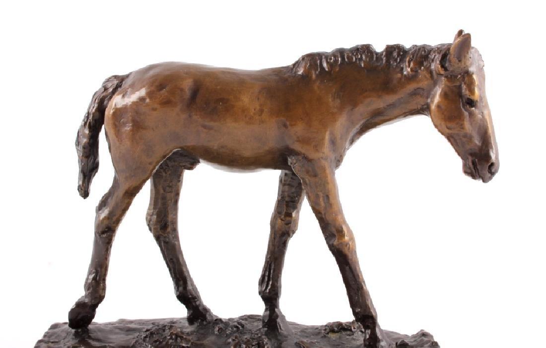 Original Bob Scriver Colt Bronze Sculpture - 5
