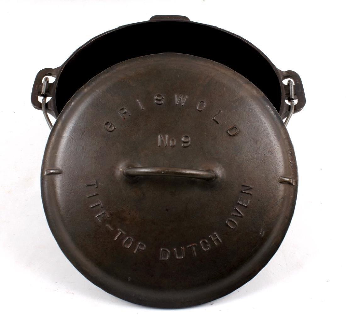 Griswold Cast Iron No. 9 Tite-Top Dutch Oven - 3