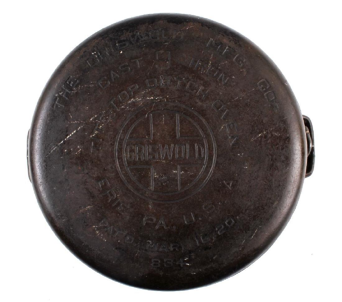 Griswold Cast Iron No. 9 Tite-Top Dutch Oven - 5