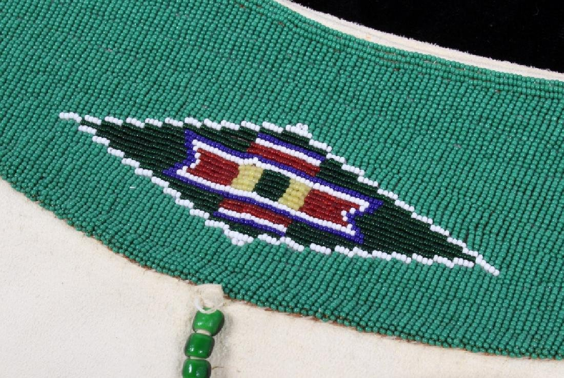 Blackfoot Indian Buckskin Hide Beaded Dress - 10