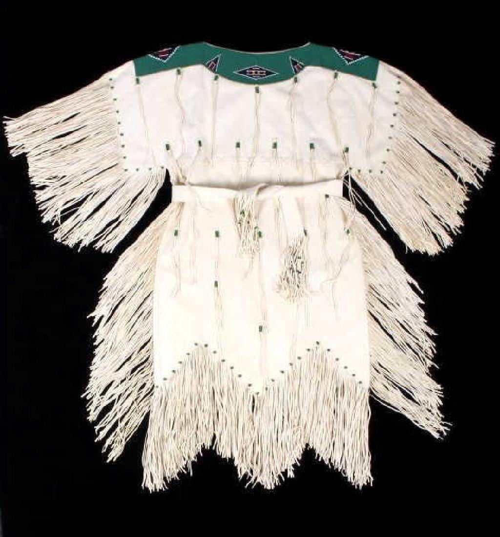 Blackfoot Indian Buckskin Hide Beaded Dress