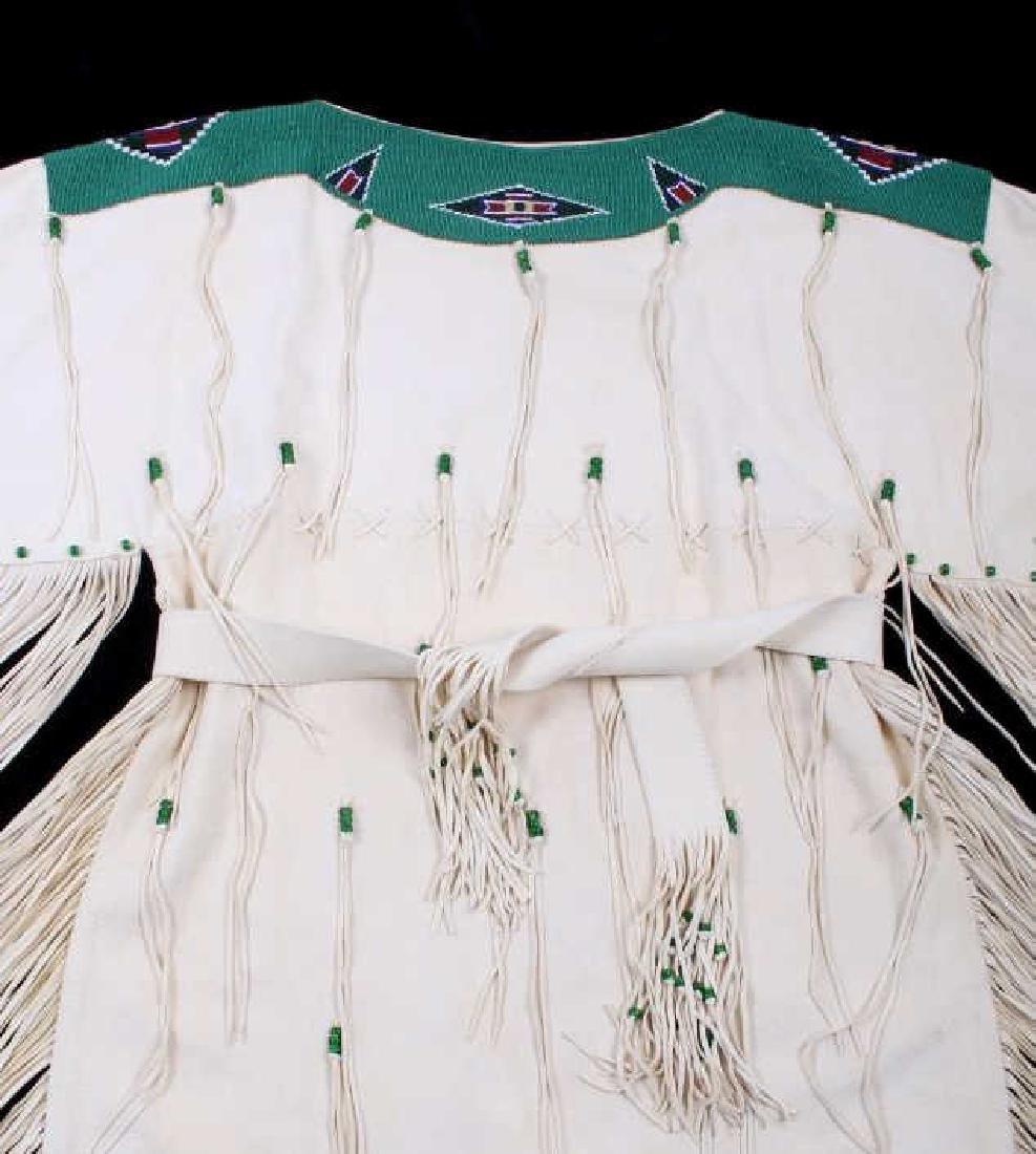 Blackfoot Indian Buckskin Hide Beaded Dress - 7
