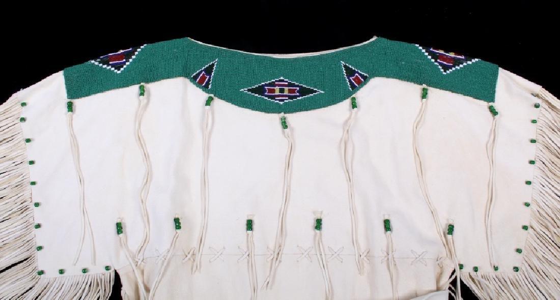 Blackfoot Indian Buckskin Hide Beaded Dress - 8