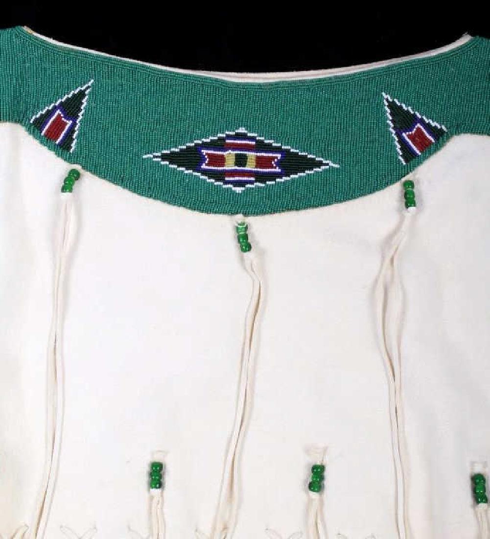 Blackfoot Indian Buckskin Hide Beaded Dress - 9