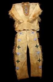 Metis Cree Beaded Scout Shirt & Pants c. 1870-1880