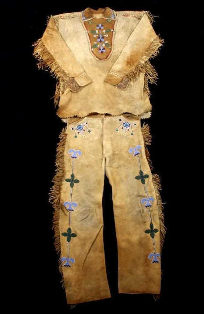 Metis Cree Beaded Scout Shirt & Pants c. 1870-1880