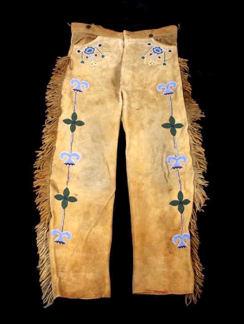 Metis Cree Beaded Scout Shirt & Pants c. 1870-1880 - 2