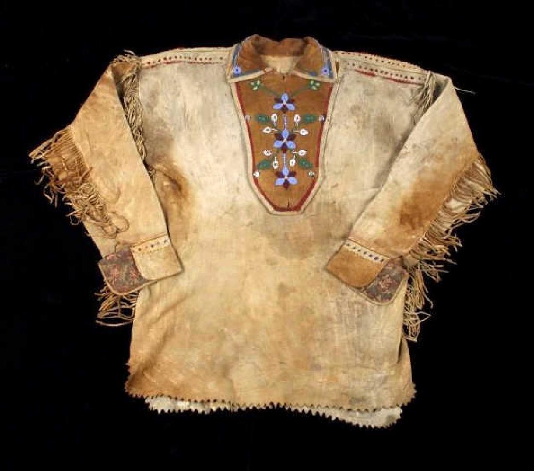 Metis Cree Beaded Scout Shirt & Pants c. 1870-1880 - 3