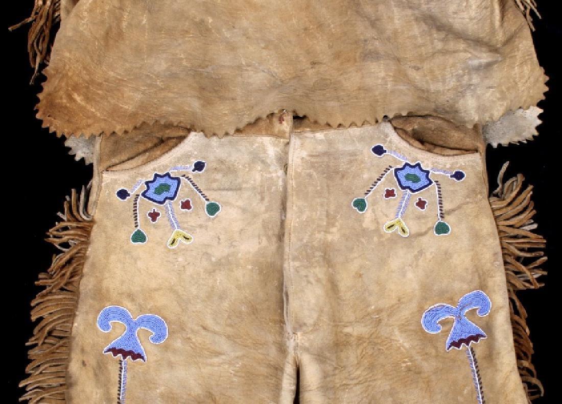 Metis Cree Beaded Scout Shirt & Pants c. 1870-1880 - 7