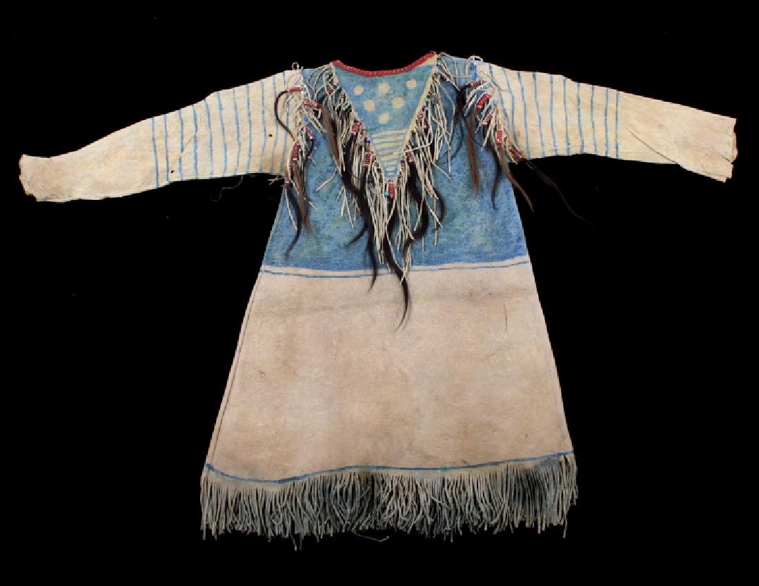 Oglala Lakota Sioux War Shirt w/ Elk Teeth 1870-80 - 12