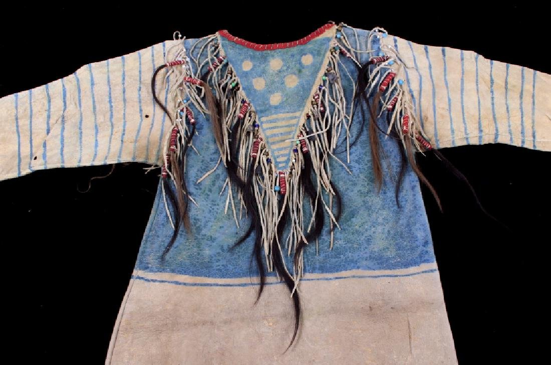 Oglala Lakota Sioux War Shirt w/ Elk Teeth 1870-80 - 13
