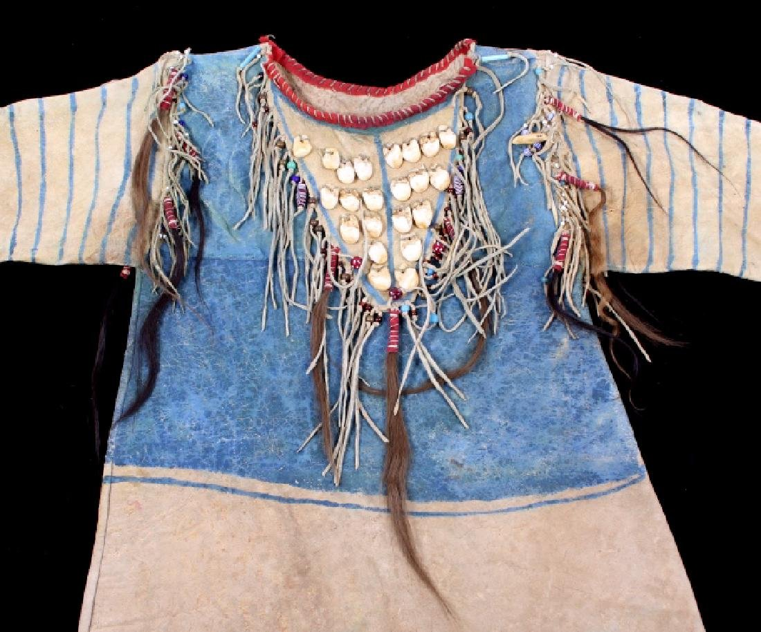 Oglala Lakota Sioux War Shirt w/ Elk Teeth 1870-80 - 3