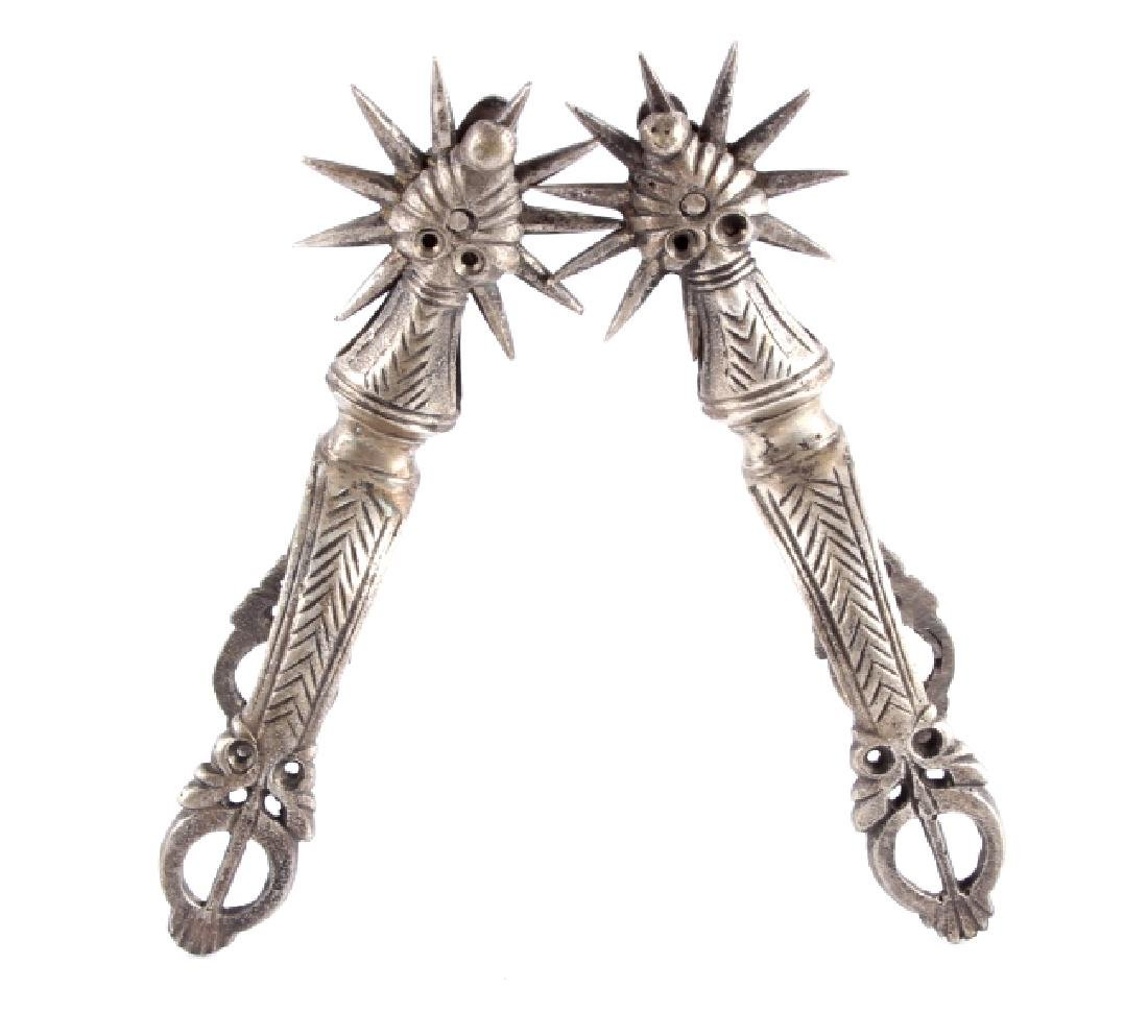 Antique Peruvian Nickel Spurs
