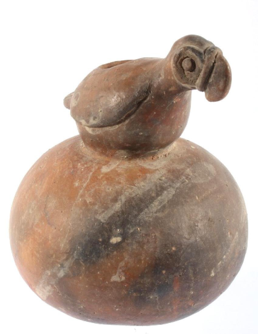 Mississippian Culture Period Figural Bird Pottery