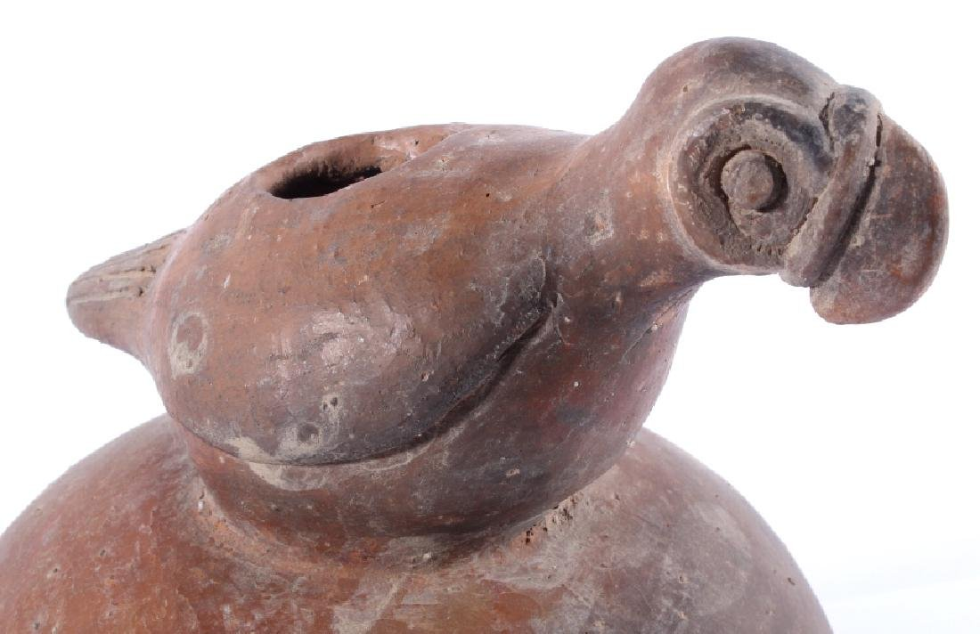 Mississippian Culture Period Figural Bird Pottery - 2