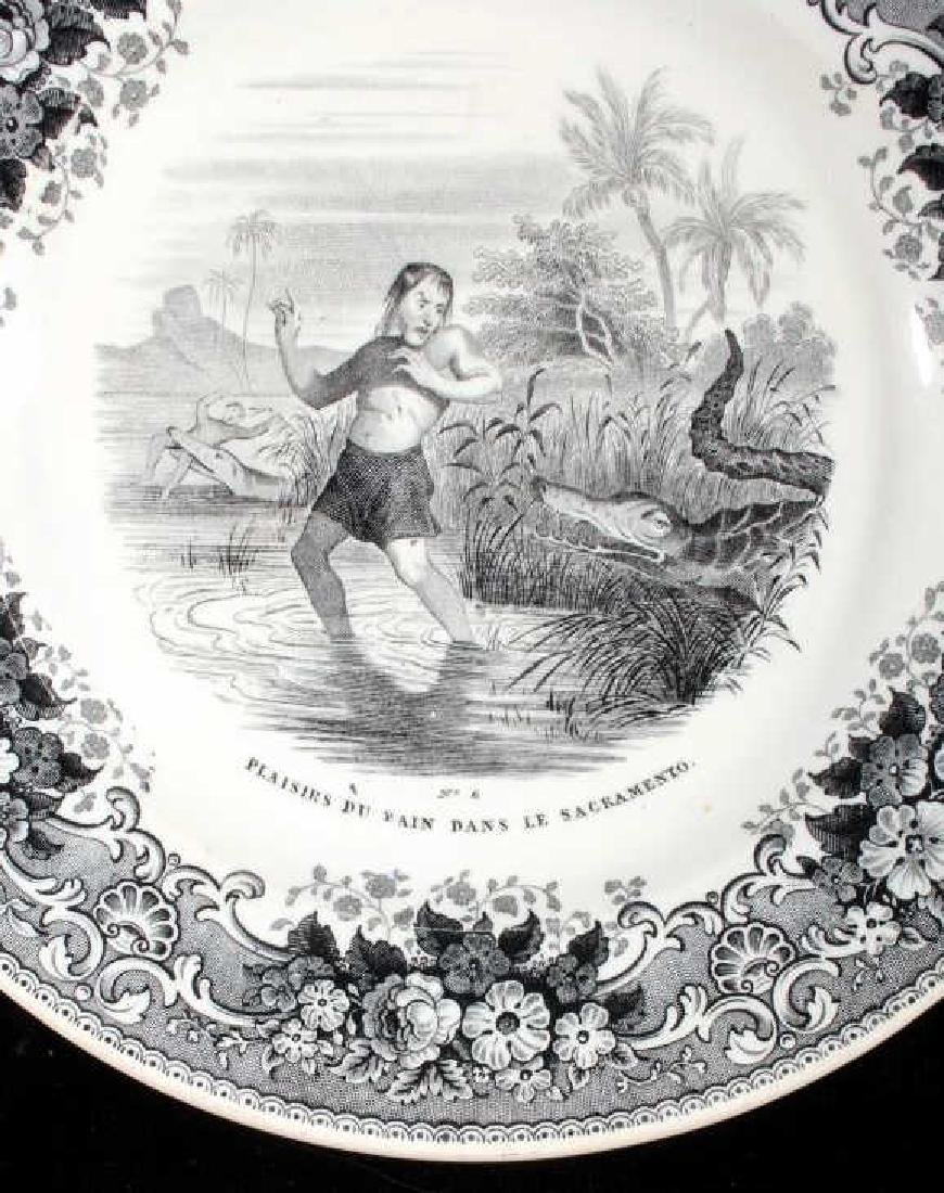 Gold Rush LeBeuf & Milliet Transferware Plate 1850 - 2