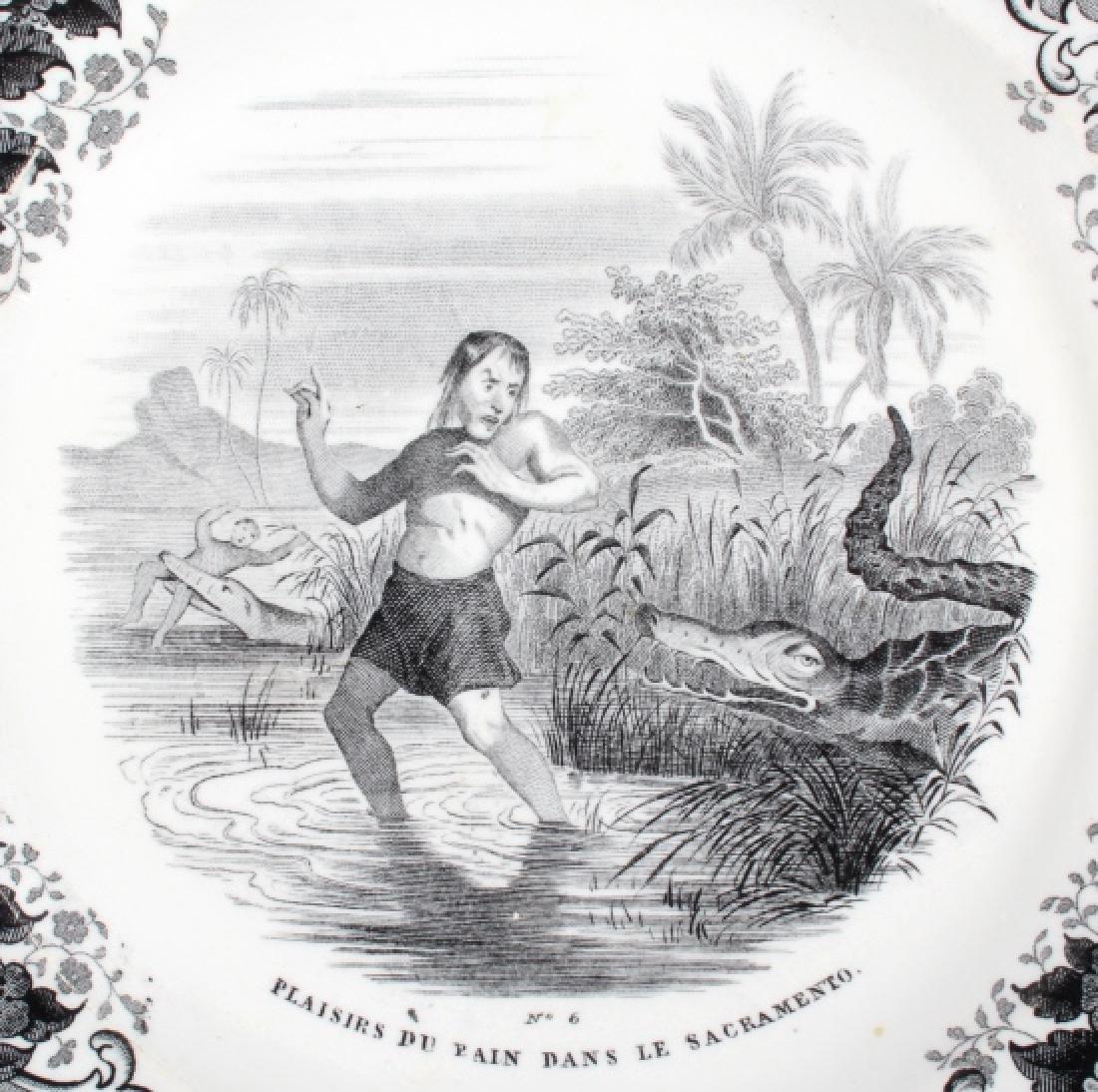 Gold Rush LeBeuf & Milliet Transferware Plate 1850 - 4